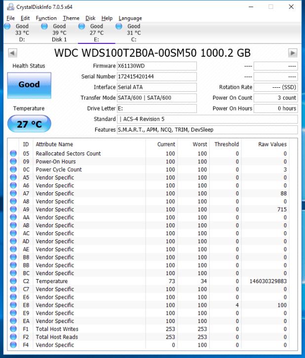 1TB WD Blue 3D SSD CDI