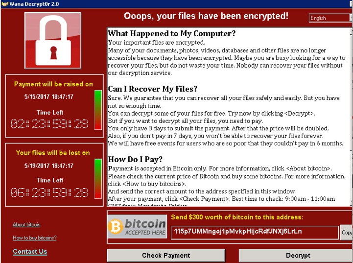 WannaCry Ransom Total