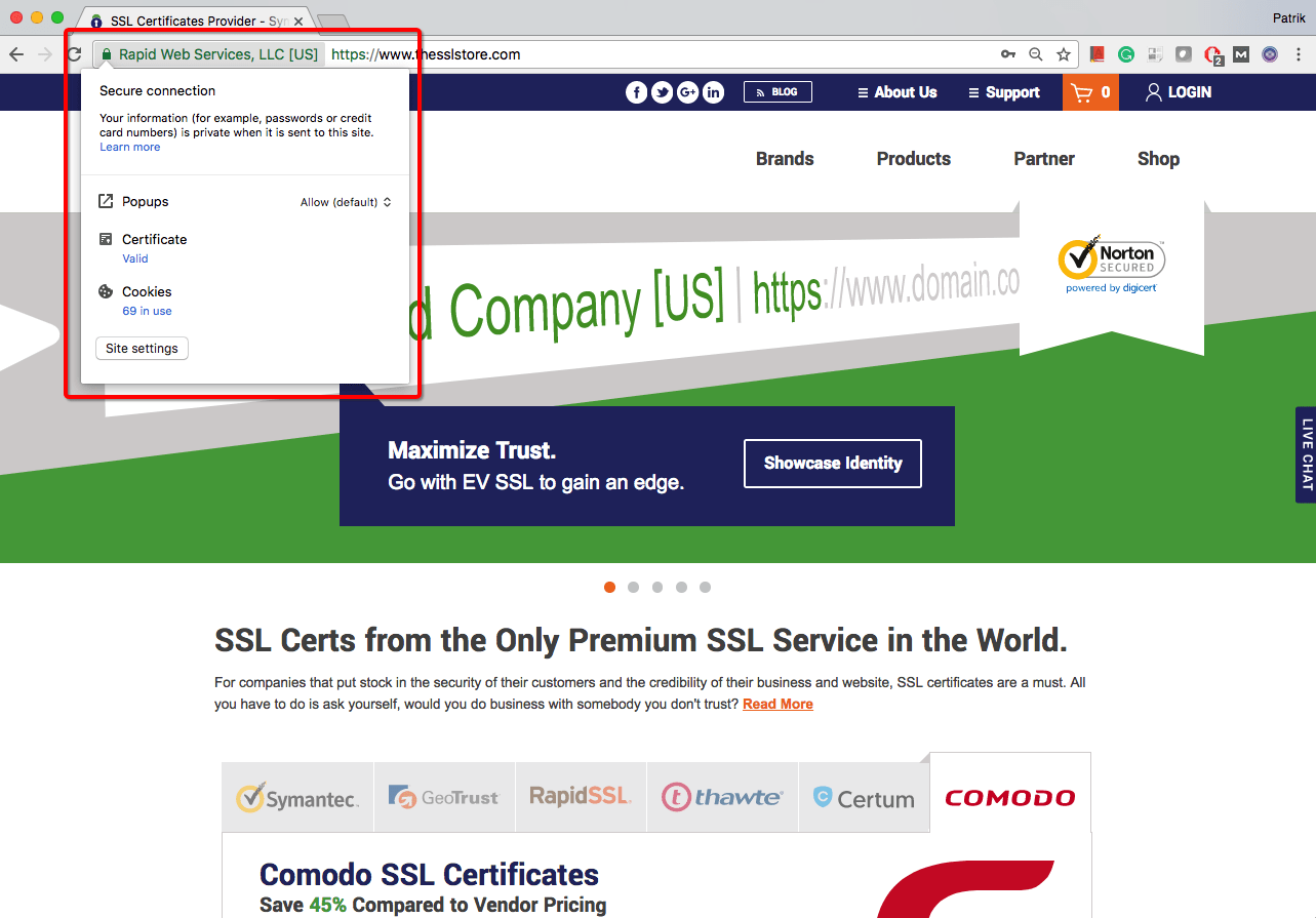How to check ssltls certificates expiration date in google chrome click the padlock xflitez Images