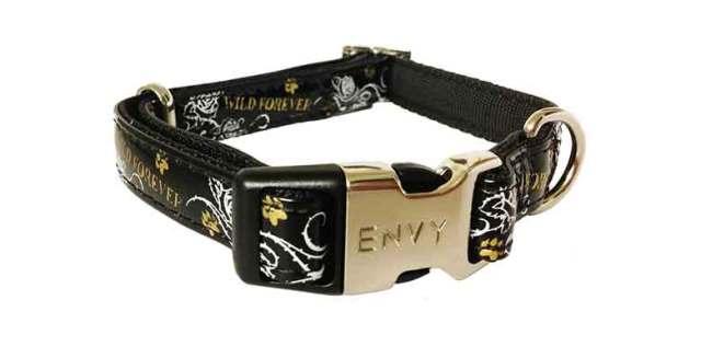 Envy Wild Forever Black Dog Collar