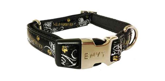 Envy Wild Forever Black Dog Collar