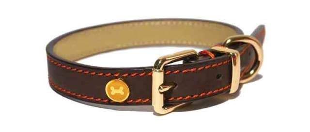Rosewood Luxury Leather Dog Collar
