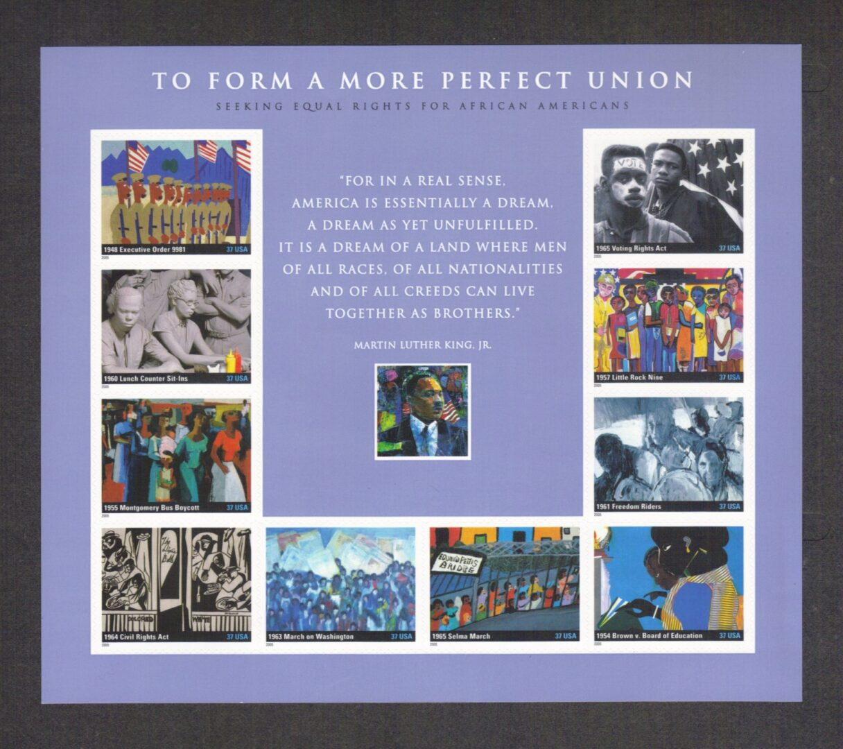 Scott To Form A More Perfect Union Souvenir Sheet