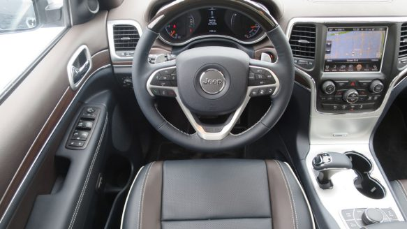 The Jeep Grand Cherokee Overland's interior stands with any of its premium SUV competitors.