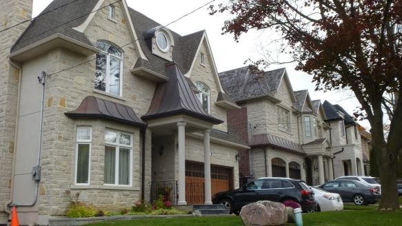 Infill houses line much of the block of Elmwood Ave., across the street from 165 Elmwood Ave., an original North York backsplit that just sold in Oct. 2015 for $1.5 million.