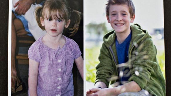 Family photos shows transgender student Wren Kauffman before and after his change. Wren was born a girl but at the age of 9 started identifying as a boy and now lives his life as a male in Edmonton.