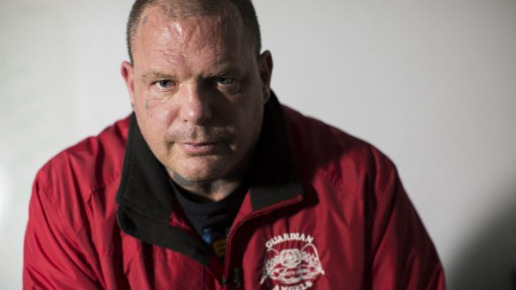 "Ian Hodgkinson, head of the Thunder Bay Guardian Angels and a professional wrestler who goes by the name of Vampiro, has returned to Thunder Bay on a mission to clean up the streets. Mayor Keith Hobbs says people ""respect"" Hodgkinson rather than fear him, and the presence of the Thunder Bay Guardian Angels has helped bring the murder toll down.  One rape. A hate crime. Thunder Bay's simmering divides come to gentle tb hodgkinson"