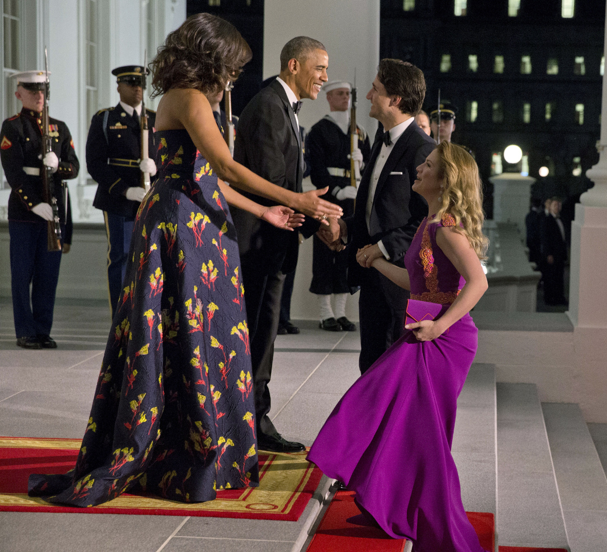 Glitz And Glamour As Justin Trudeau Attends State Dinner