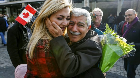 Canada is home to the seventh largest number of migrants, around eight million, who have arrived from foreign countries  — people like Maria Karageozian and her father Hagop, who were reuinited at the Armenian Community Center of Toronto on Dec. 11, 2015.