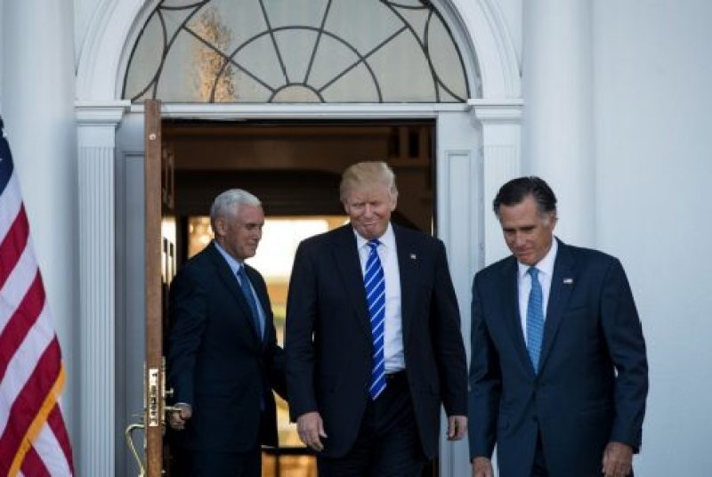 Image result for trump and romney show expediency is a two way street