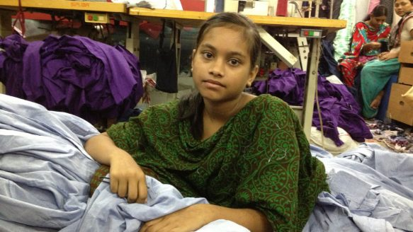 Taaniya, 13, has been working for a few years. She was Meem's friend at the sweatshop and  gave the 9-year-old tips, including which sewing operators to avoid.<br />
