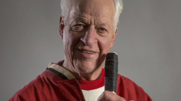 """Gordie Howe is shown a a recent handout photo from the new book """"Mr. Hockey."""