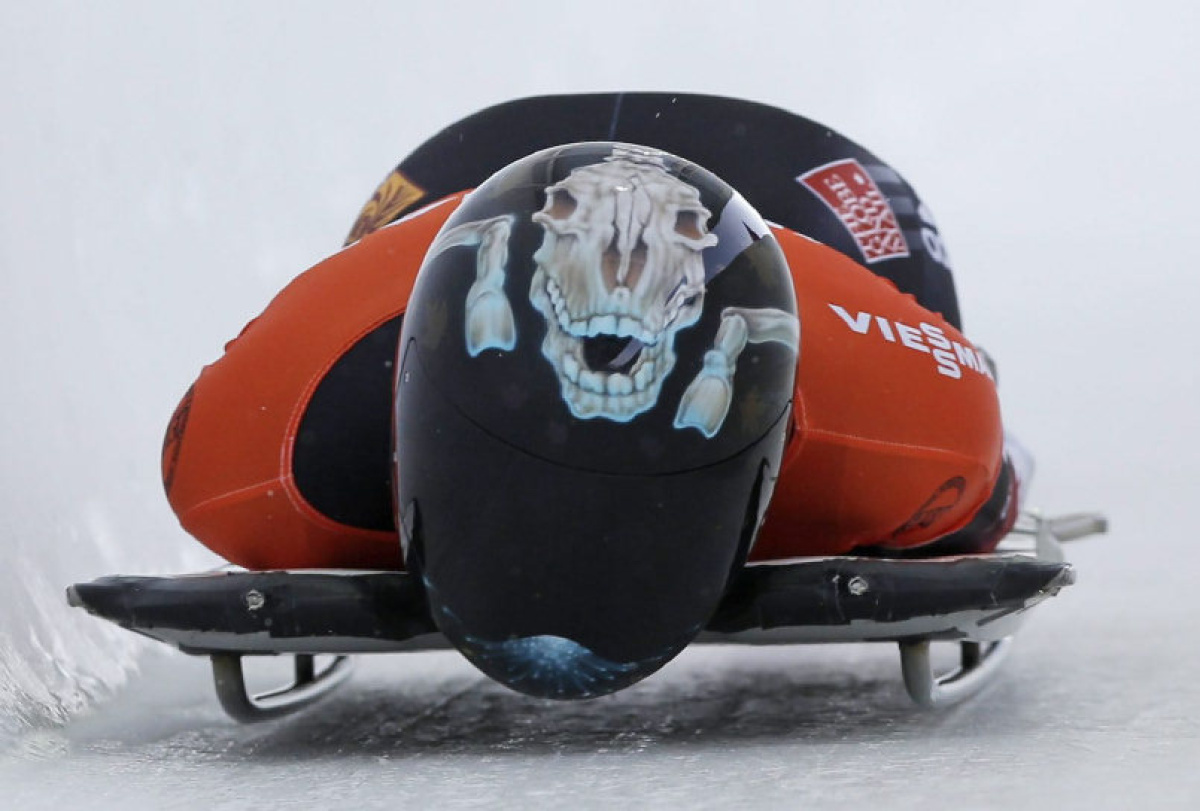 Olympic Skeleton Helmets Designed In Pickering Eh