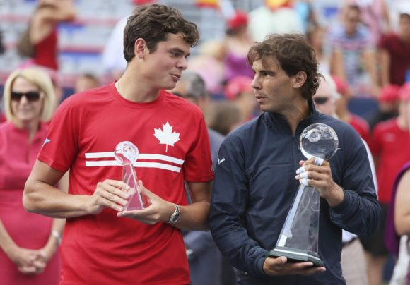 Image result for Rafael Nadal says Canadian star Milos Raonic can be the best tennis player in the world