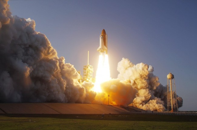 Lift-off of STS-133, final mission for Discovery.