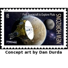 New Horizons conceptual USPS stamp