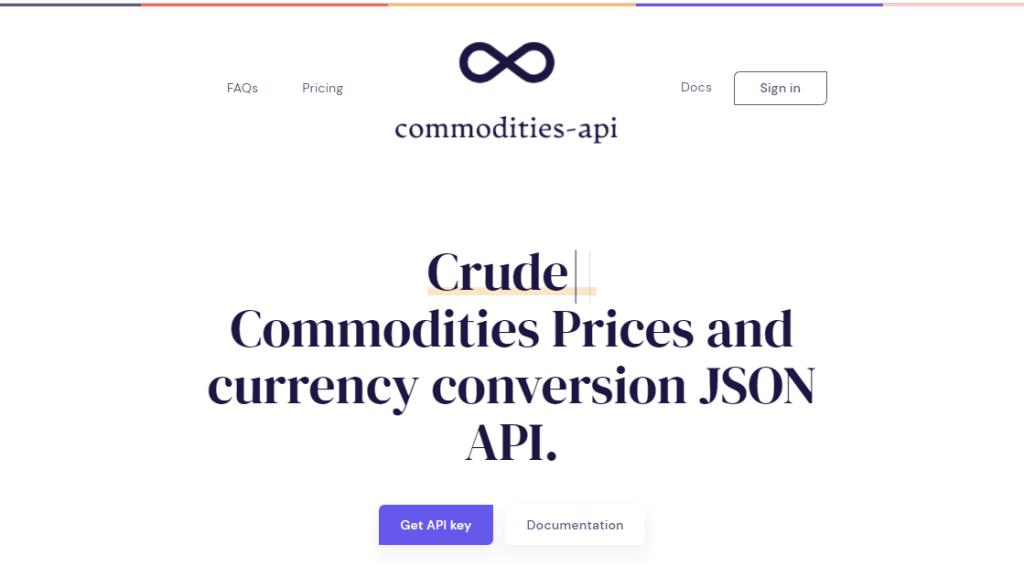 commodities website