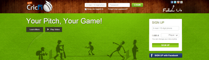 CricFi - Lets You Manage Cricket Activities Online
