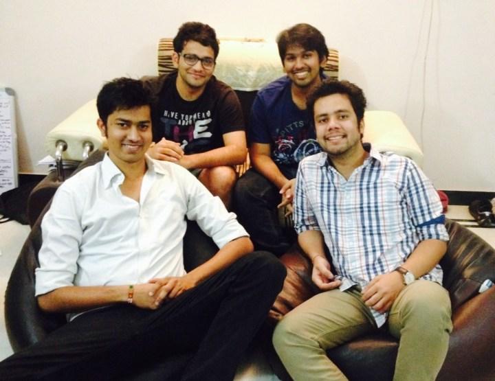 Team Medyog (Pranat Bhadani, Parth Dhoot, Shantanu Jain & Nitin Jain- from left)