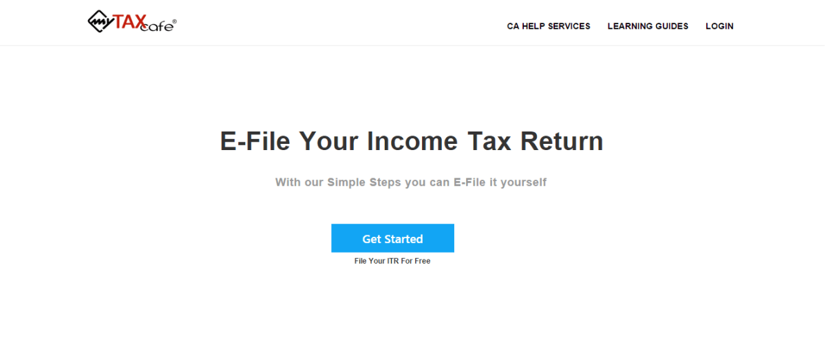 MyTaxCafe Online Income Tax Filling