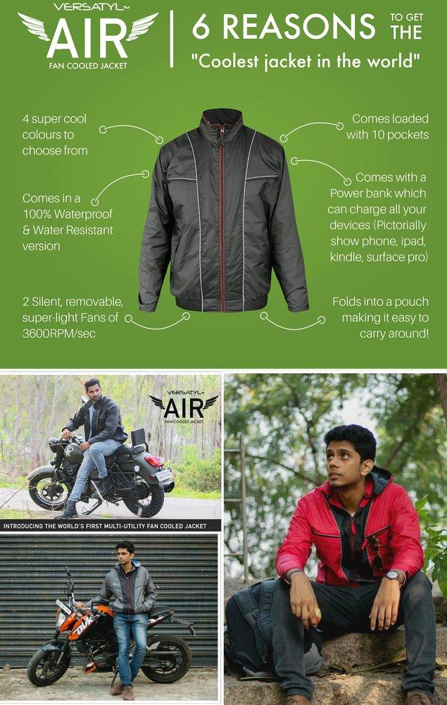 Versatyl Air - World's First FAN COOLED Jacket