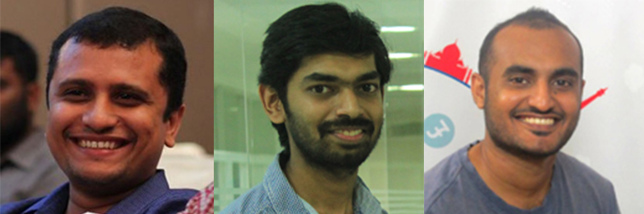 Meet the Founders (From Left): George, Ashwin and Nisanth
