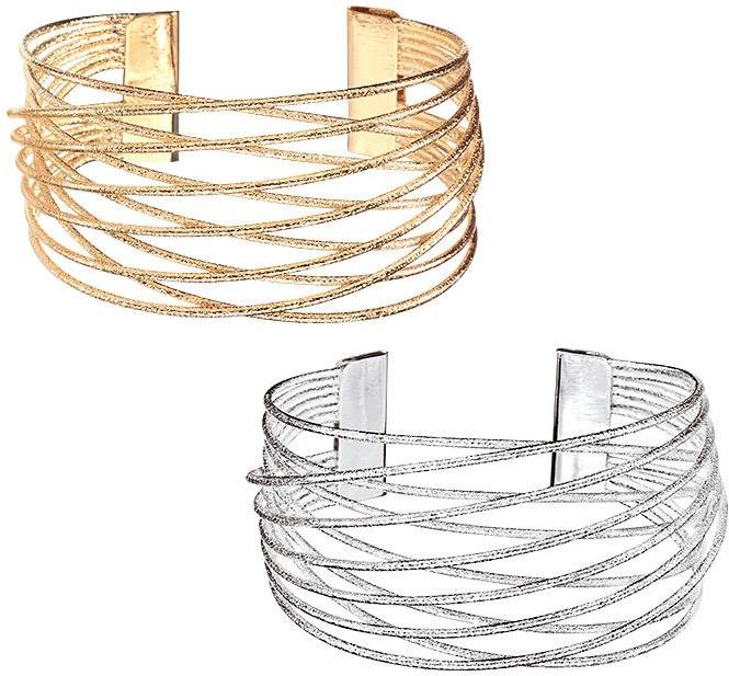 Cuffed beauty! With brushed metal open work, the Avon Rising Stars Cuff Bracelet features a criss cross design.