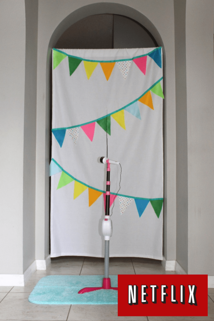 Make this No Sew Stage Curtain