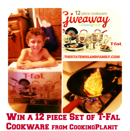 Win a 12 piece Set of T-Fal Cookware from CookingPlanit