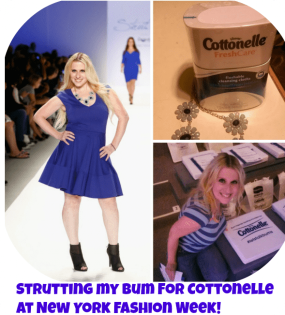 Strutting my bum for Cottonelle  at New York Fashion Week!