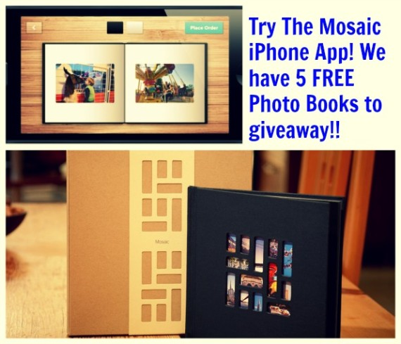 Mosaic iPhone App and we have Five FREE Photo Books to give away