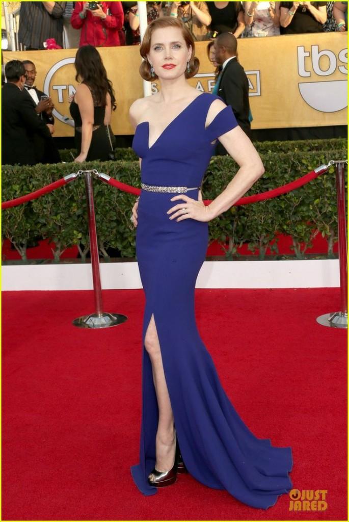 Amy Adams - SAG Awards 2014 Red Carpet  photo courtesy JustJared.com