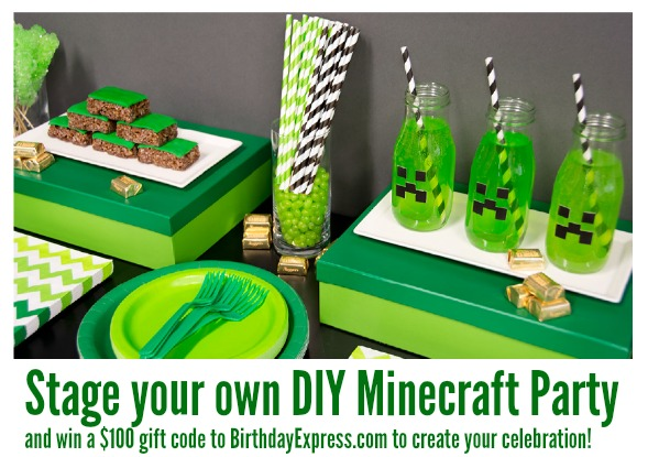 Stage your own DIY Minecraft Party and win a $100 gift code to BirthdayExpress.com to create your celebration!