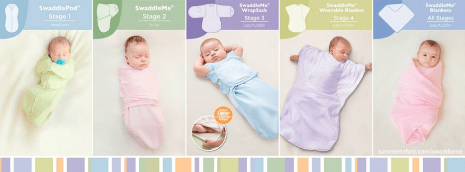 Win a Summer Infant four stages of Summer swaddling GIVEAWAY