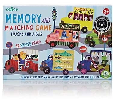 Featuring colorfully illustrated tiles, Eeboo's Trucks and A Bus Matching Game is designed to help children work on their recognition and memory skills.
