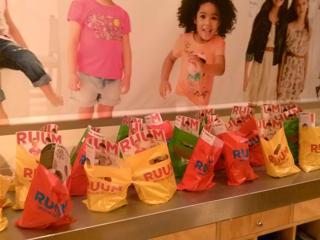 We had lots of goody bags!