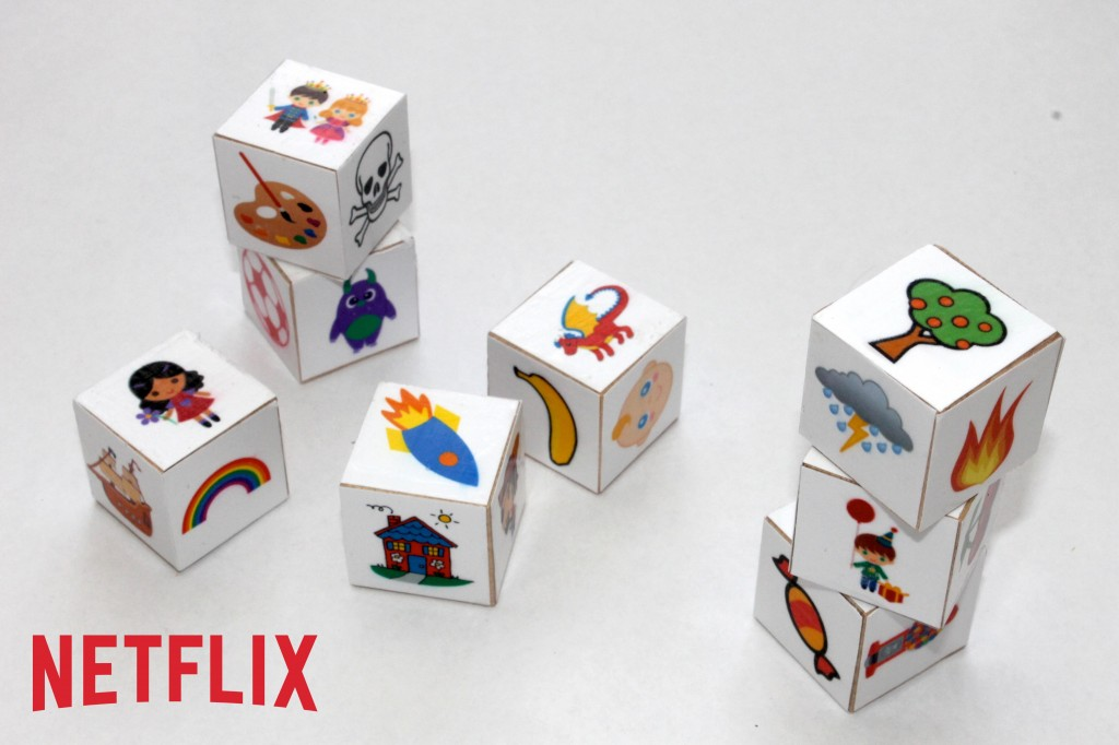After streaming fun and educational titles, it's time to get your little ones' minds moving. Create these story cubes to give your kids the chance to activate their imagination and come up with their own storybook adventure.