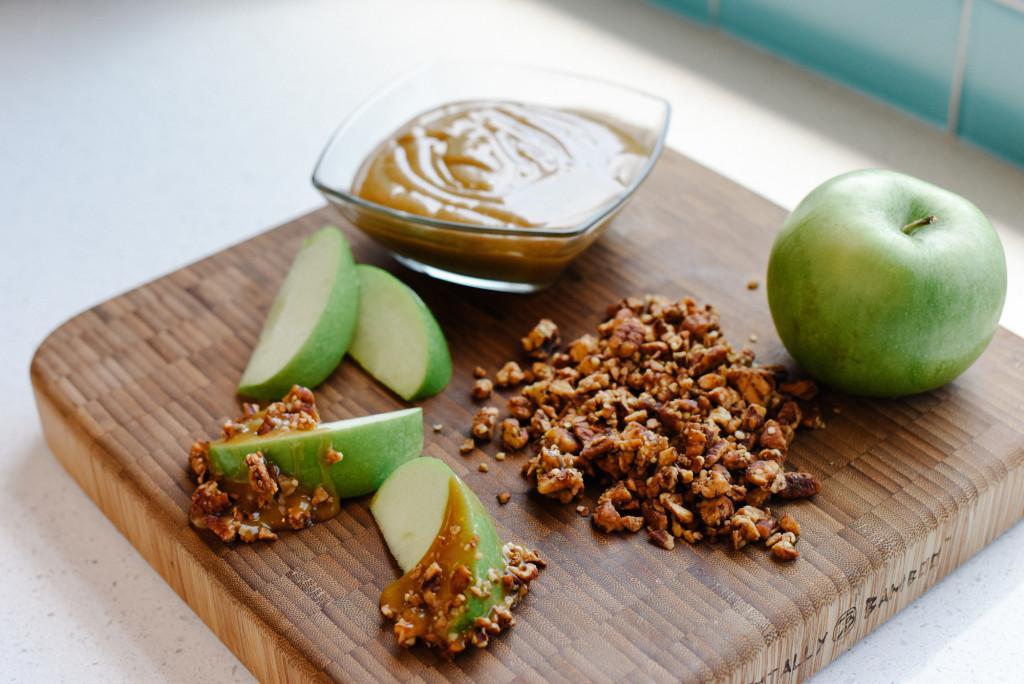 Sweet and Salty Vegan Caramel Apples