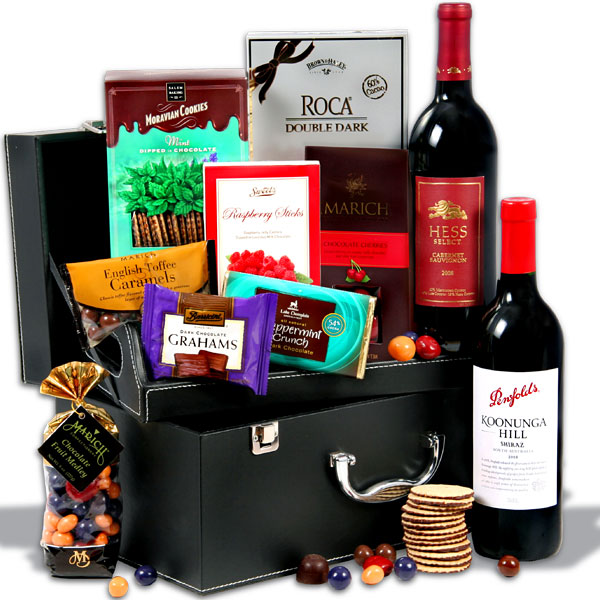 Red Wine And Dark Chocolate Suitcase with Torpedo Cigar, $179.99