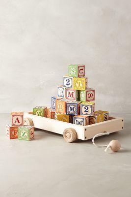 Anthropologie Alphabet Wagon