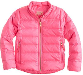 Girls' shiny puffer jacket