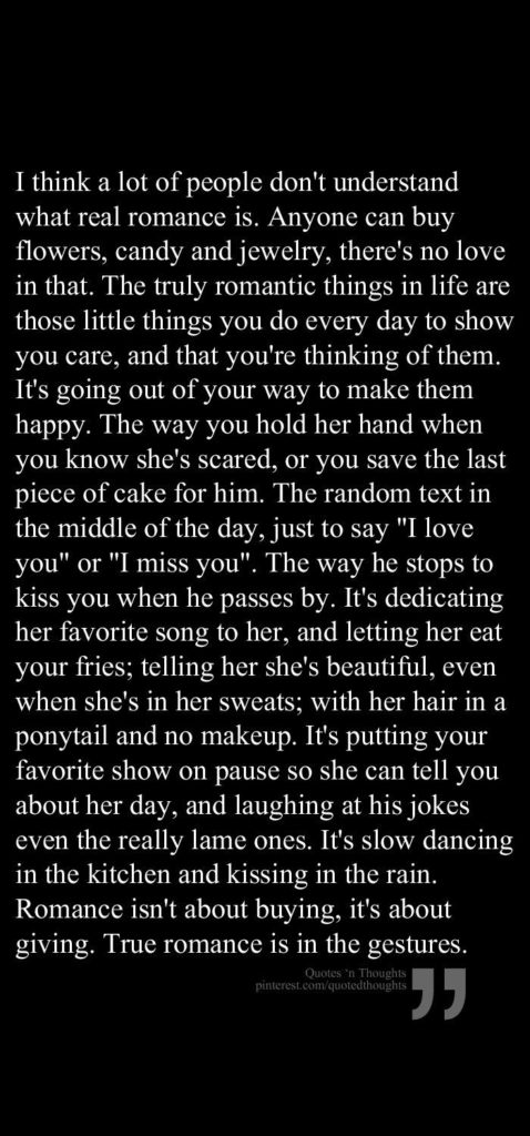 True Romance is in the gestures