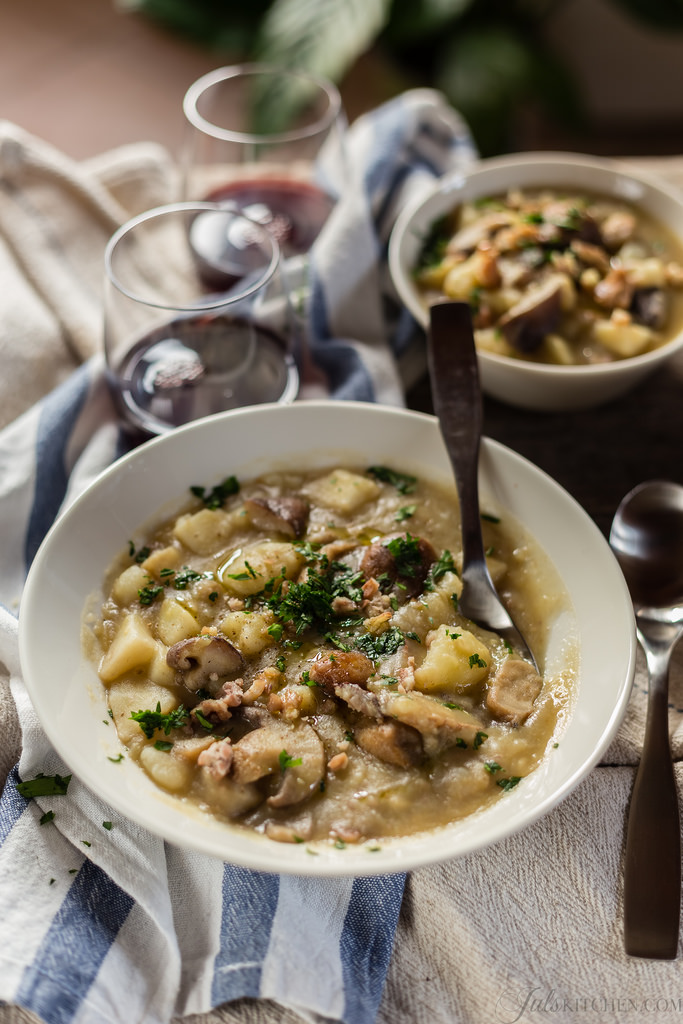 Potato, Porcini and Chestnut Soup