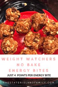 Weight Watchers No Bake Energy Bites