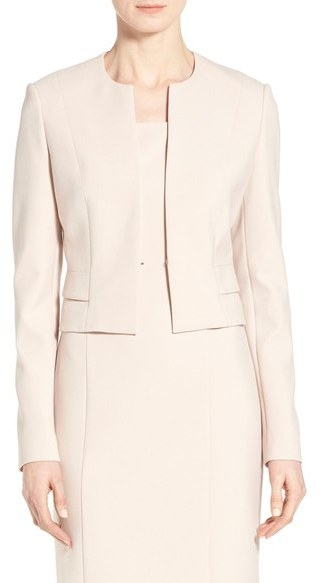 BOSS 'Jiopela' Crop Ponte Suit Jacket