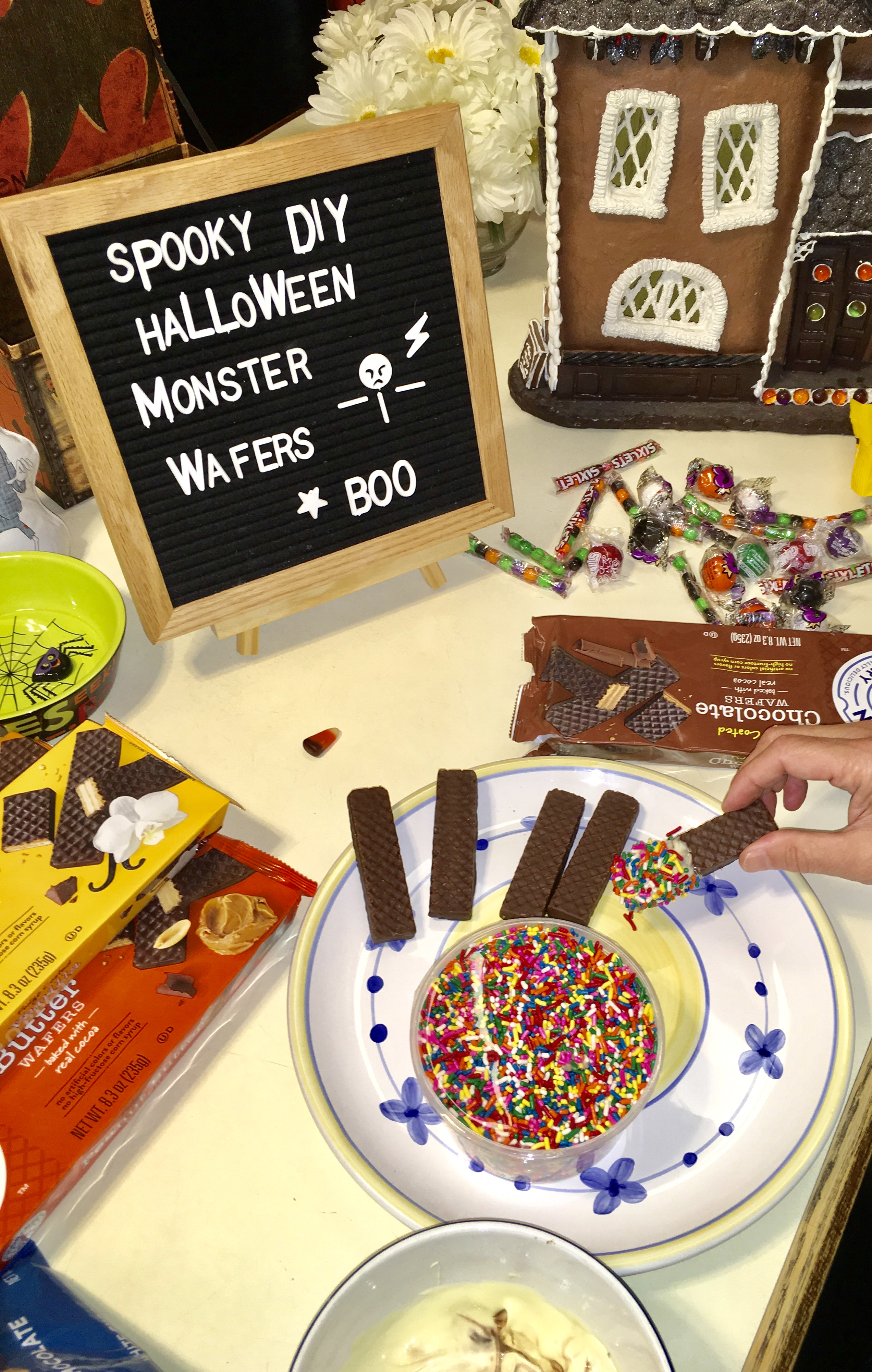 DIY Halloween Monster Wafers ANYONE can make