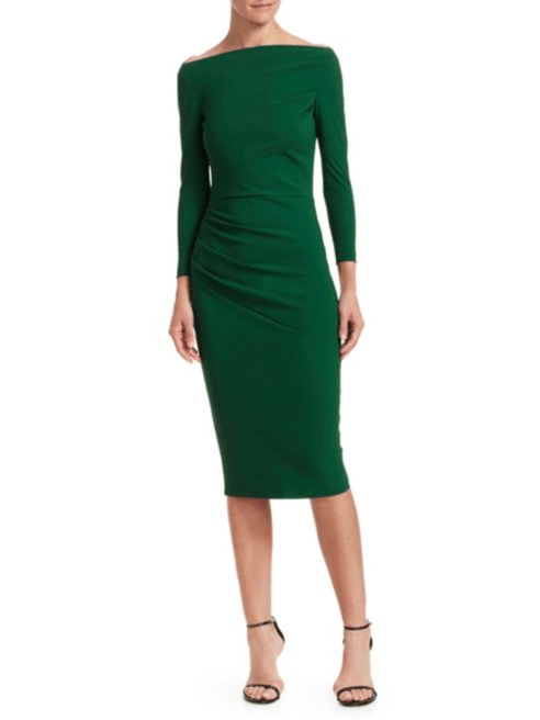 Chiara Boni La Petite Robe Sotera Off-The-Shoulder Midi Dress