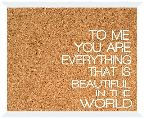 Cork boards with positive messages
