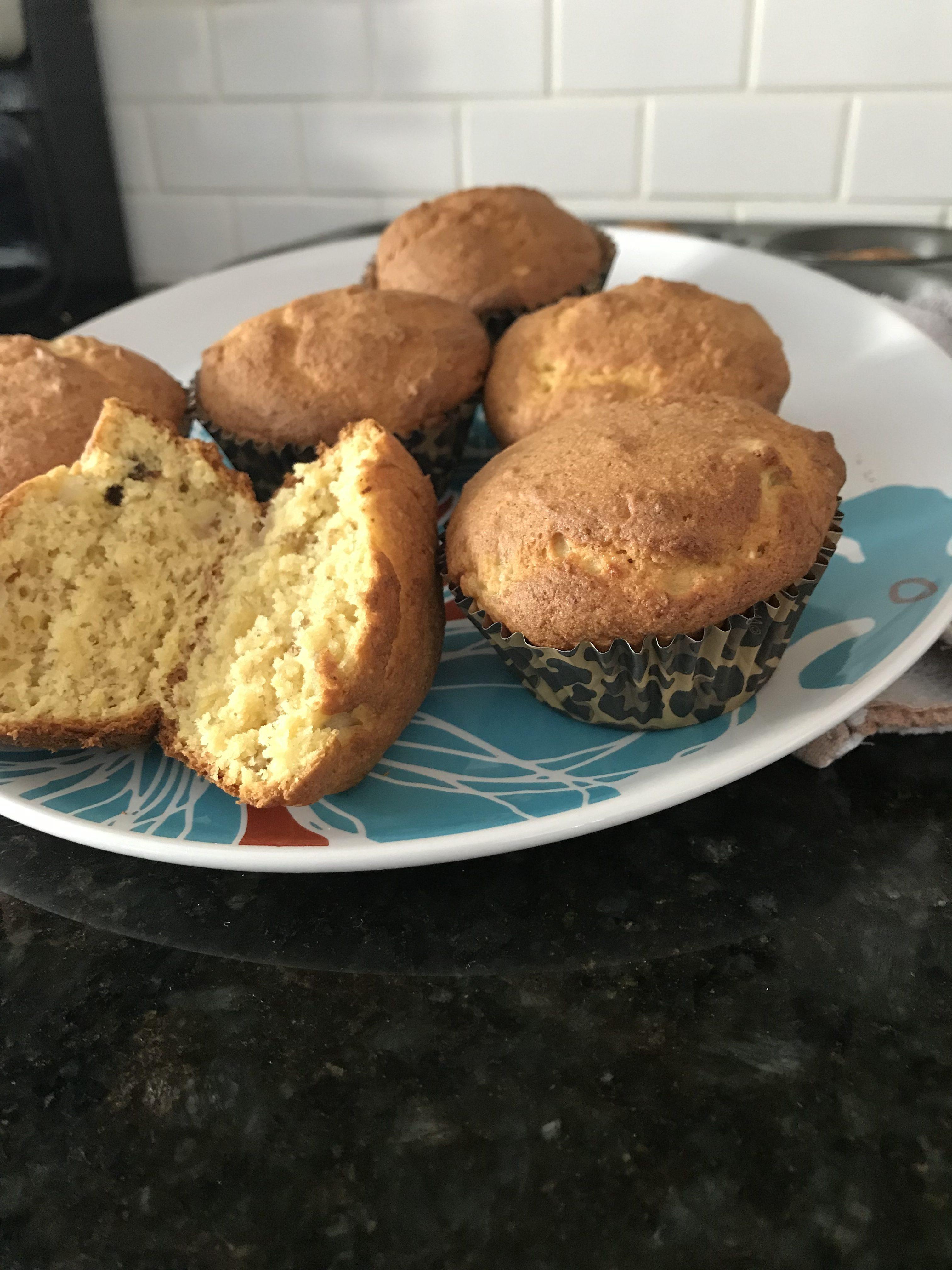 Weight Watchers Banana Chocolate Chip Muffin Recipe- Just 4 Smart Points per muffin!