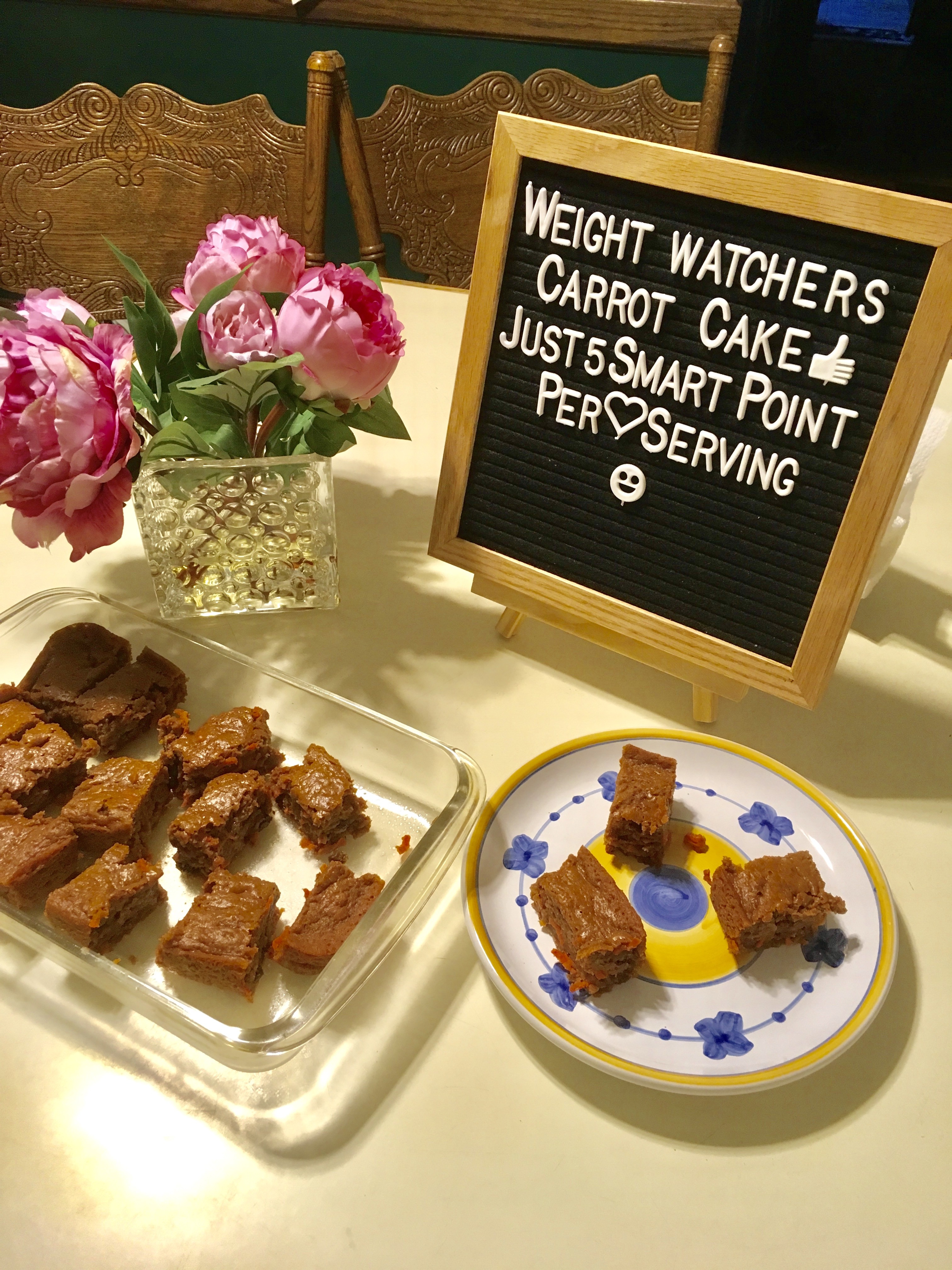 Semi-Homemade Weight Watchers Carrot Cake is a great recipe idea that makes a cake mix easy to fit into your daily SmartPoints on the WW FreeStyle Plan!